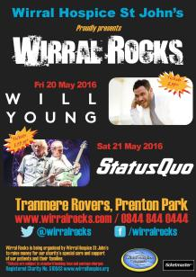 Wirral Rocks Status Quo & Will Young poster